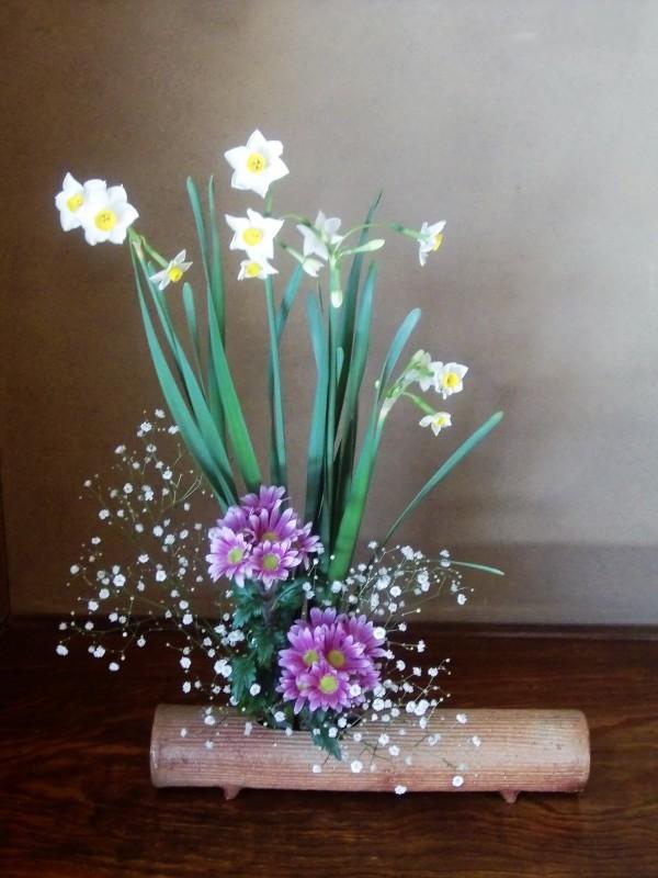 今年の行事、正月花とお料理_f0329849_22230088.jpg