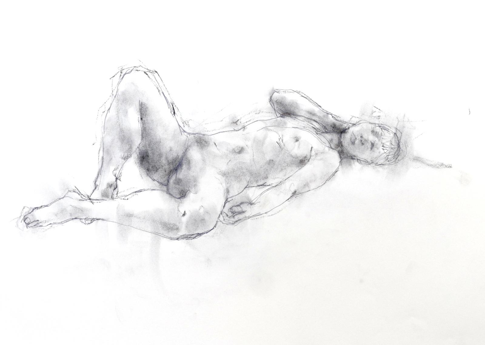 《 素描・・・ 横たわる裸婦 4 》_f0159856_09144551.jpg
