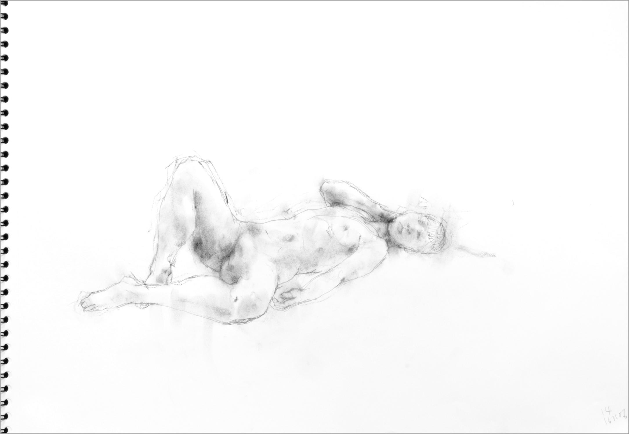 《 素描・・・ 横たわる裸婦 4 》_f0159856_09172244.jpg
