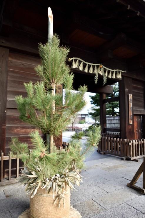 徳川園の松飾りと冬牡丹_e0170058_19063005.jpg