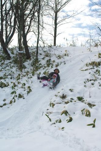 積雪25cm。そり遊び。_c0110869_1137471.jpg