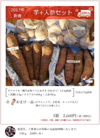新春 芋+人参セットのお知らせ_c0110869_11441286.jpg
