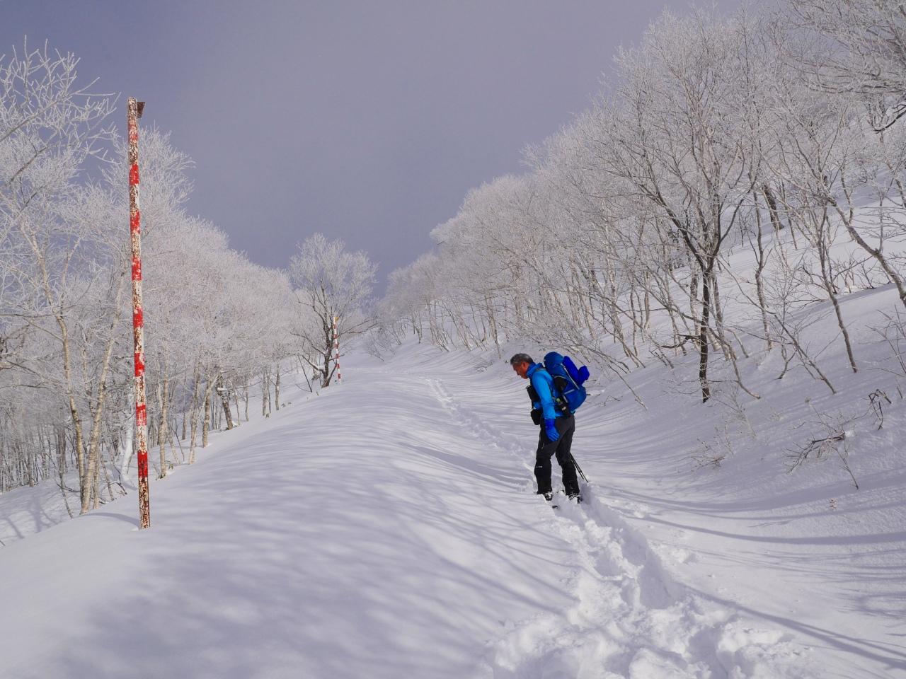 紋別岳から748mピークピストン、2017.1.8-その1-_f0138096_2114823.jpg