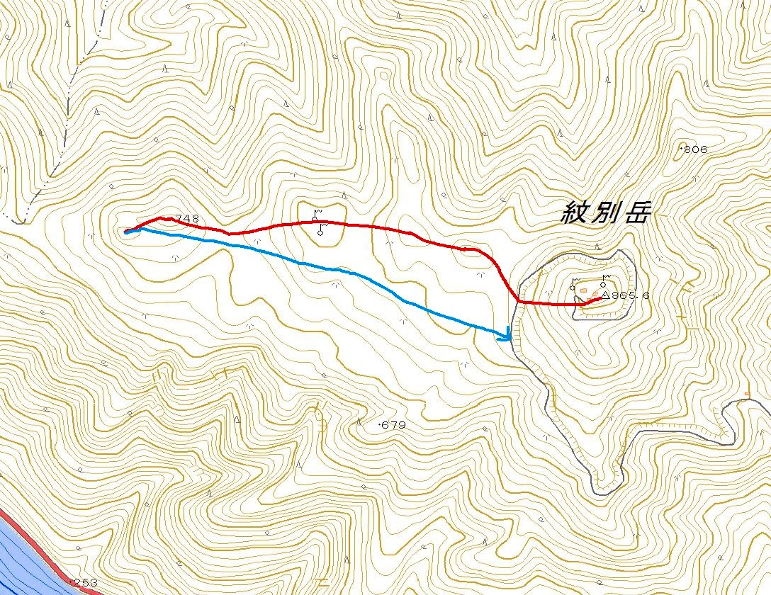 紋別岳から748mピークピストン、2017.1.8-その1-_f0138096_2122745.jpg
