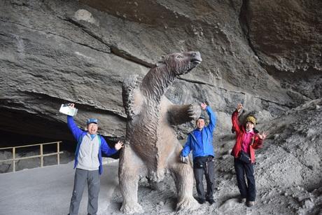 2016年11月17日1万5千年前の恐竜ミロドンMilodonが発見された洞窟の見学へ_c0242406_1224167.jpg