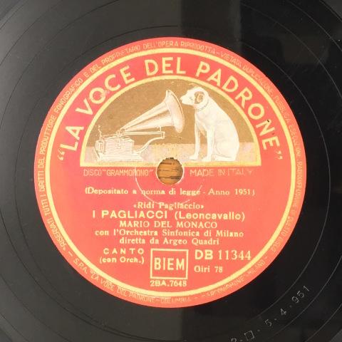 1月 新着レコードのご紹介 デル・モナコの「道化師」_a0047010_19180558.jpg