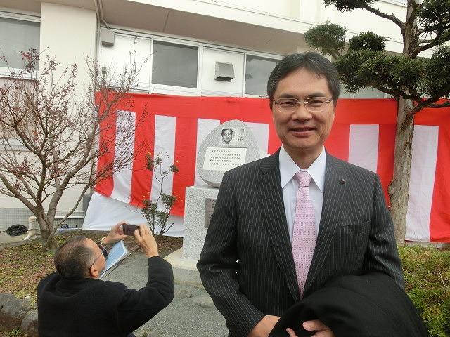 「まだまだこれからだ!」 母校の大先輩・戸塚洋二先生顕彰碑の除幕式_f0141310_750030.jpg