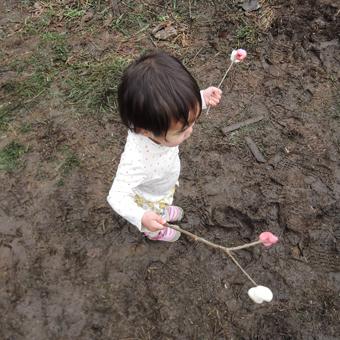 稲田堤の家の近くで「どんと焼き」_c0195909_1515217.jpg