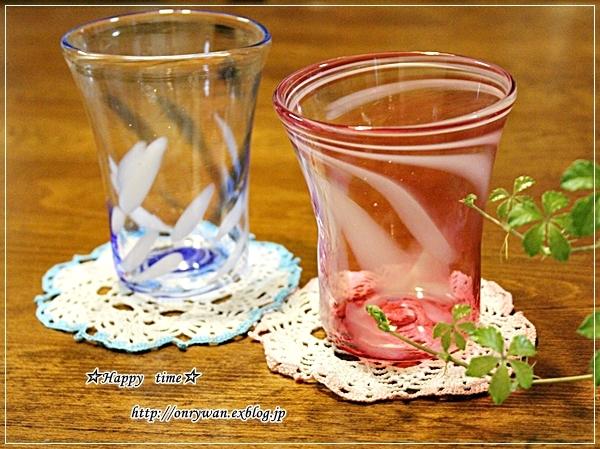 エビとほうれん草で炒飯弁当と吹きガラス体験でマイグラス♪_f0348032_18040601.jpg