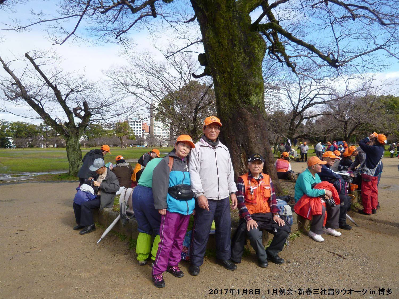 2017年1月例会 合同三社詣りウオーク in 博多_b0220064_8373947.jpg