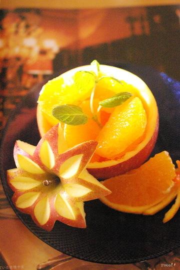 林檎と清見のフルーツカッティング_d0327373_16104362.jpg