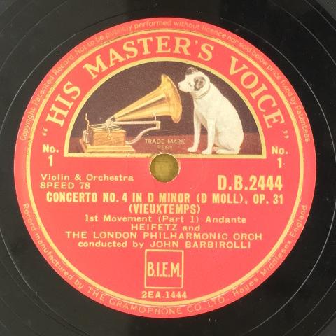 1月 新着レコードのご紹介  ゴールドベルクとハイフェッツ_a0047010_17292334.jpg