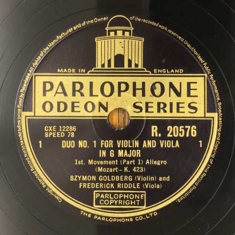 1月 新着レコードのご紹介  ゴールドベルクとハイフェッツ_a0047010_17455910.jpg