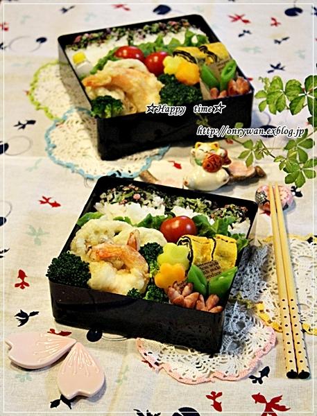 天ぷら弁当と初雪~♪_f0348032_18151826.jpg