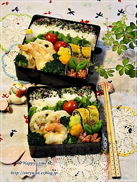 天ぷら弁当と初雪~♪_f0348032_18153396.jpg