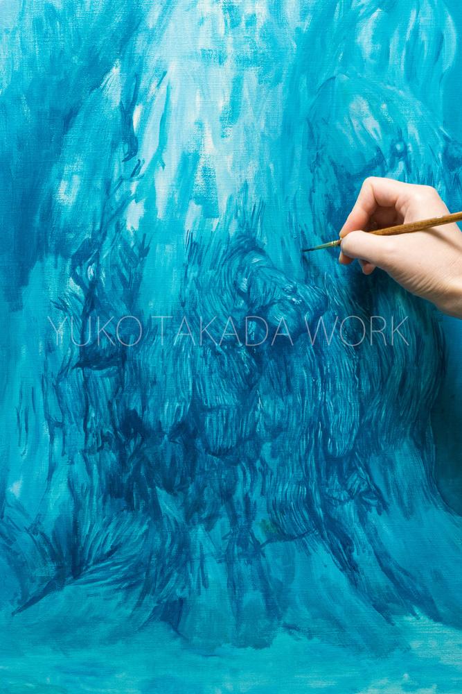 水のいろの木肌を描いております。_b0240382_19421025.jpg