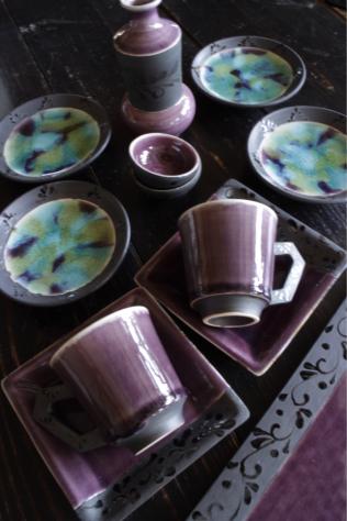 紫のうつわたち  お酒のお供に!_c0176406_21385269.jpg