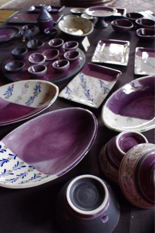 紫のうつわたち  お酒のお供に!_c0176406_21385273.jpg