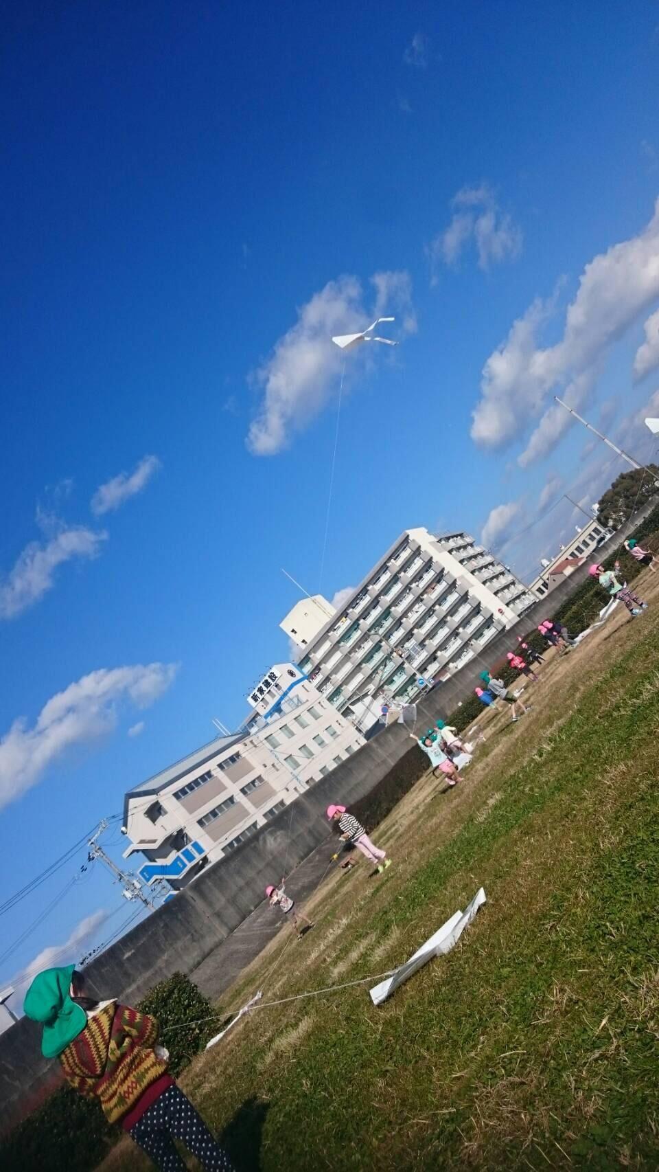 4歳児らいおん組  凧上げしたよ。_c0151262_13043001.jpg