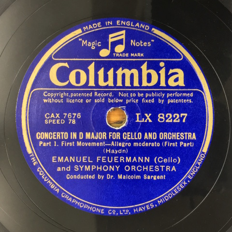 1月 新着レコードご紹介 フォイアマンのハイドン協奏曲_a0047010_17372679.jpg