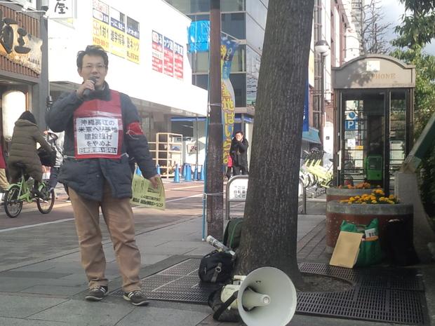 1月12日、岡山駅前で、とめよう戦争への道!百万人署名運動岡山県連絡会が街宣_d0155415_22105270.jpg