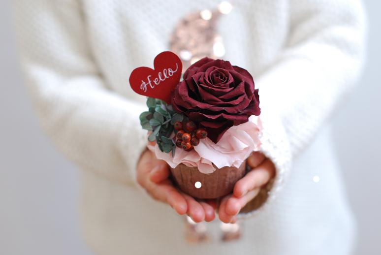 プリザのカップケーキ_f0179528_16540424.jpg
