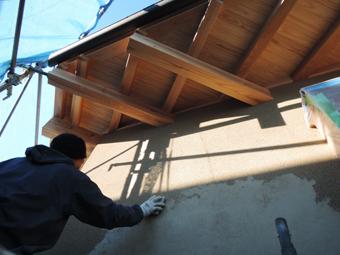 稲田堤の家の外壁はリシンかき落し_c0195909_862096.jpg