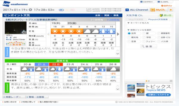 週末の天気と気温(1月3週目)_b0174425_17293414.png