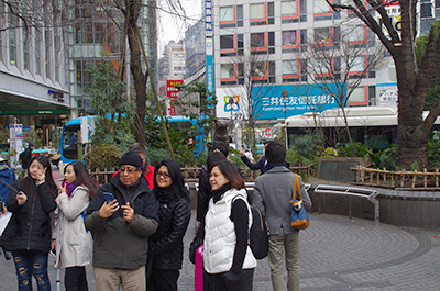1月20日(金)今日の渋谷109前交差点_b0056983_14102740.jpg
