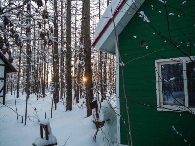 エゾリス君で始まり・・夕暮れで終わる・・真冬の一日。_f0276498_23544317.jpg