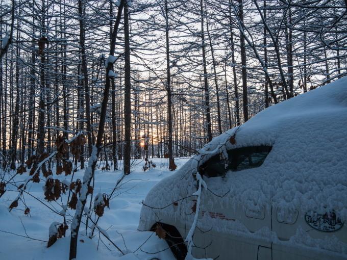 エゾリス君で始まり・・夕暮れで終わる・・真冬の一日。_f0276498_23551423.jpg