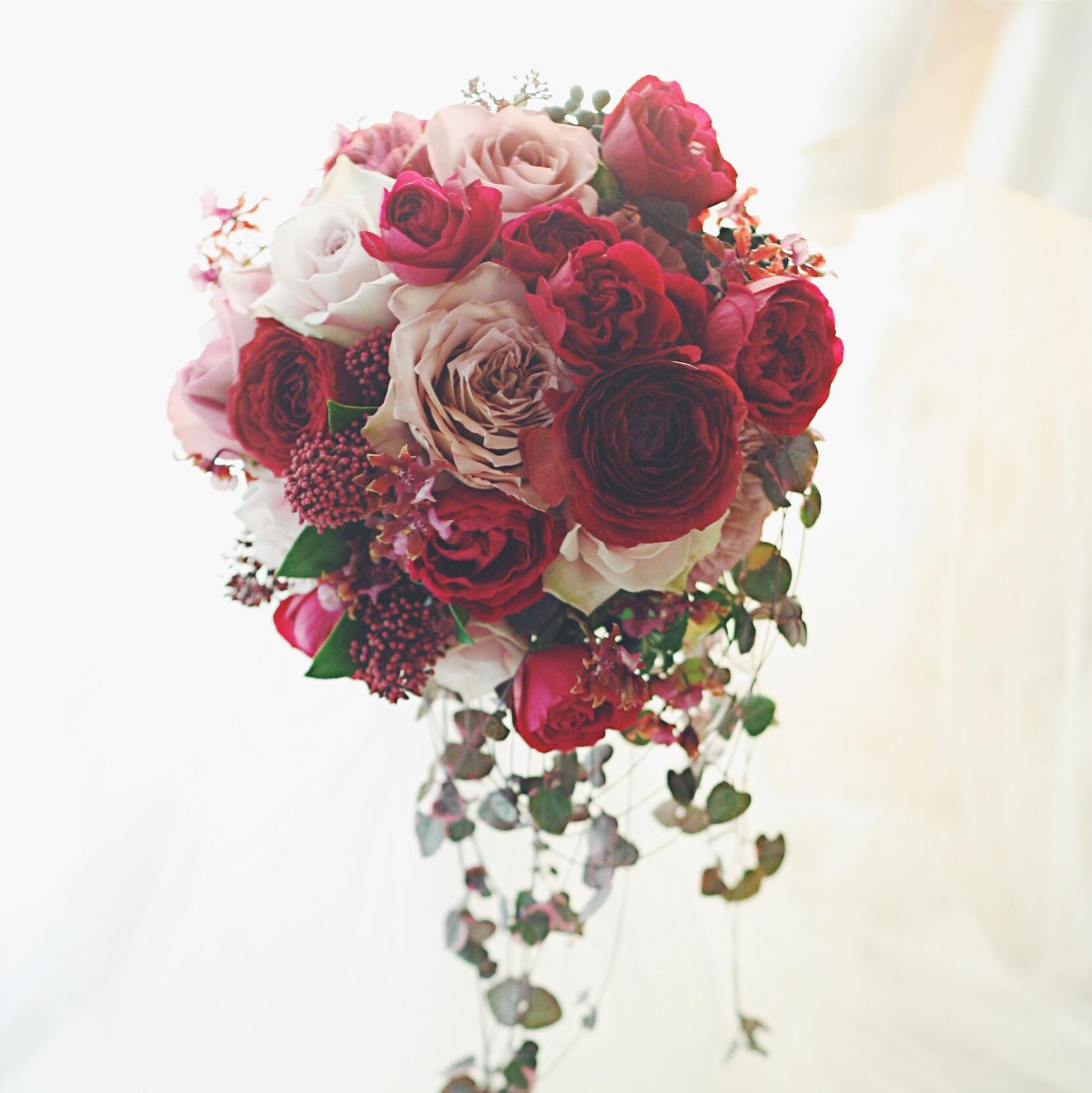 ブーケ、冬のバラ、冬のボルドー_a0042928_229814.jpg