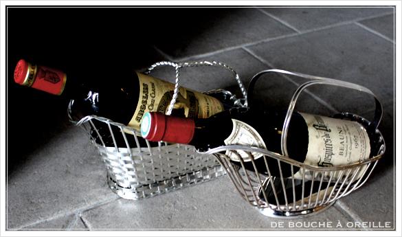 porte bouteille クリストフル製 アンティークのパニエ その2 ボトルバスケット_d0184921_16552653.jpg