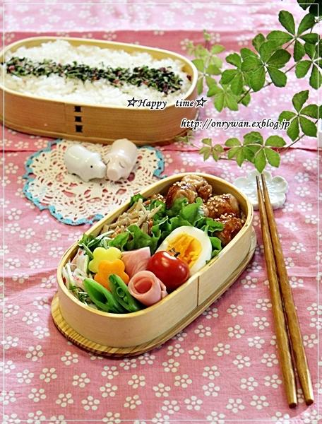 一口サイズでお肉の照焼き弁当と常備菜作り♪_f0348032_18031084.jpg