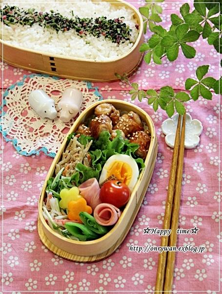一口サイズでお肉の照焼き弁当と常備菜作り♪_f0348032_18032214.jpg