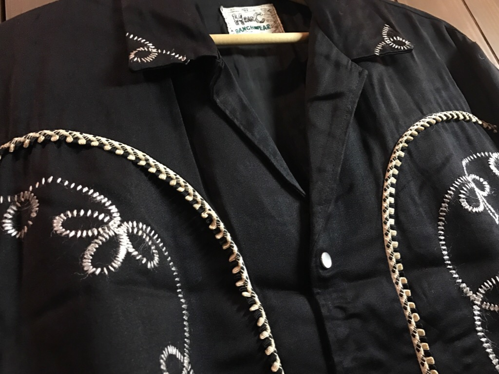 神戸店1/25(水)ヴィンテージ入荷!#2 50\'s HbarC Black Rayon Western Blouson!Mix Item!!!_c0078587_18543829.jpg