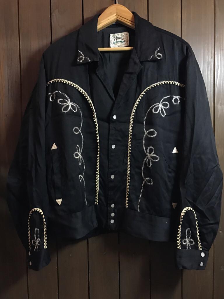 神戸店1/25(水)ヴィンテージ入荷!#2 50\'s HbarC Black Rayon Western Blouson!Mix Item!!!_c0078587_18545063.jpg