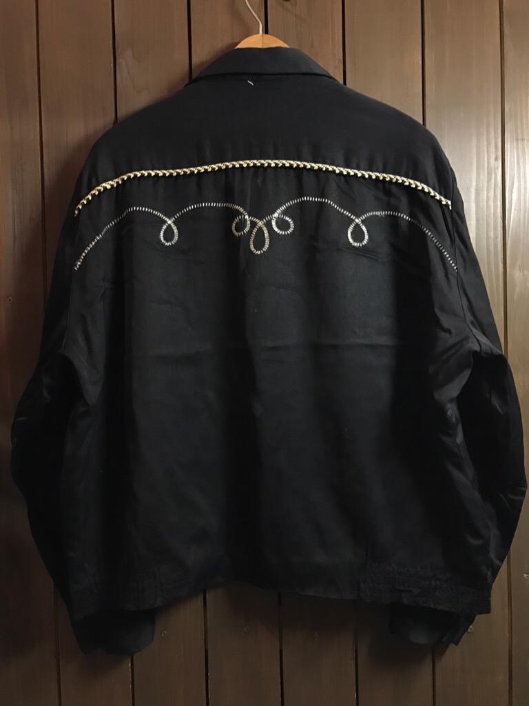 神戸店1/25(水)ヴィンテージ入荷!#2 50\'s HbarC Black Rayon Western Blouson!Mix Item!!!_c0078587_1855322.jpg