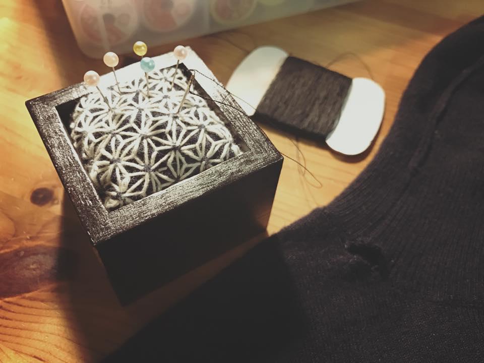 大槌復興刺し子プロジェクトとiwayado craftのコラボな針山_b0199244_11371321.jpg