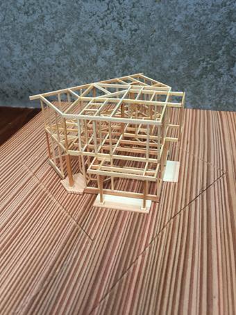 稲田堤の家の軸組模型の製作過程。_c0195909_13401762.jpg