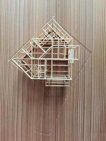 稲田堤の家の軸組模型の製作過程。_c0195909_13402185.jpg