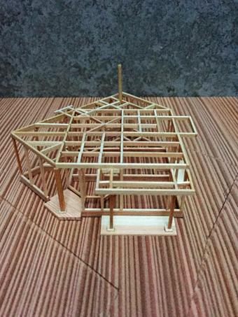 稲田堤の家の軸組模型の製作過程。_c0195909_13402629.jpg