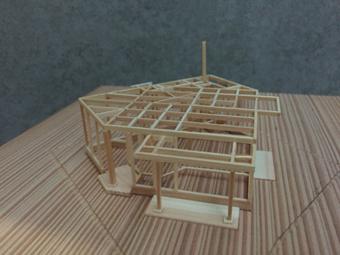 稲田堤の家の軸組模型の製作過程。_c0195909_13403058.jpg