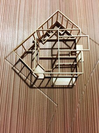 稲田堤の家の軸組模型の製作過程。_c0195909_13403580.jpg