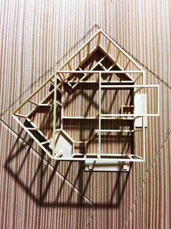 稲田堤の家の軸組模型の製作過程。_c0195909_13403989.jpg