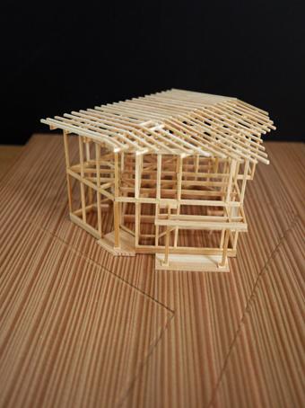 稲田堤の家の軸組模型の製作過程。_c0195909_1340488.jpg