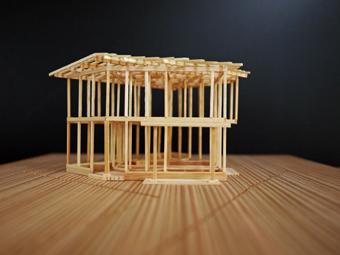 稲田堤の家の軸組模型の製作過程。_c0195909_1340890.jpg