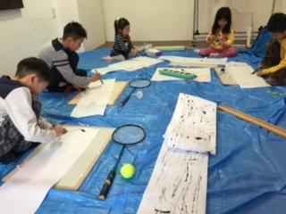 1月の出張教室から「竹ペンで描こう」_b0215321_2244044.jpg