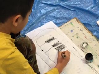 1月の出張教室から「竹ペンで描こう」_b0215321_2245124.jpg