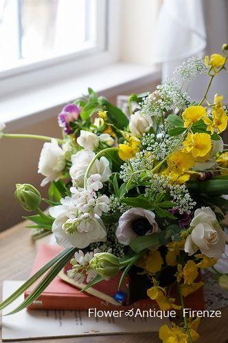 *趣味コース 春の花でブーケ*_e0159050_16071275.jpg